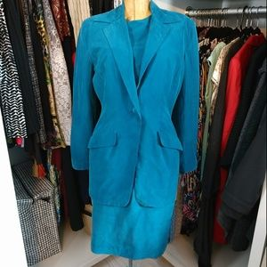 Papell Too 100% Silk Blazer and Short Sleeve Dress